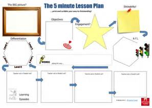 5 minute lesson plan template the 5 minute lesson plan by teachertoolkit by ross