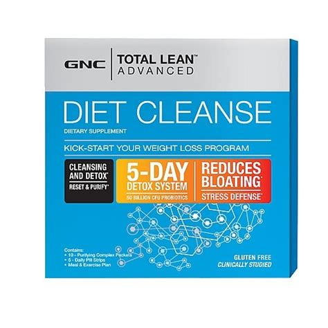 Gnc Detox Meal Plan by Gnc Total Lean Diet Cleanse 5 Day Program Jet