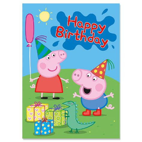peppa pig george birthday card ark