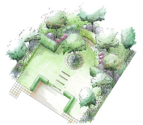 layout of square garden best 20 formal garden design ideas on