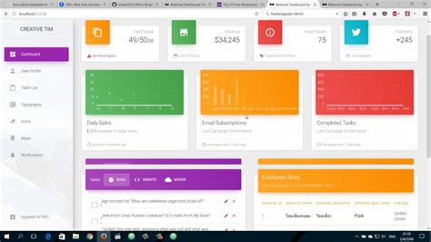 Ep 4 การใช Free Admin Dashboard Templates ก บ Codeigniter Youtube Codeigniter Dashboard Template Free