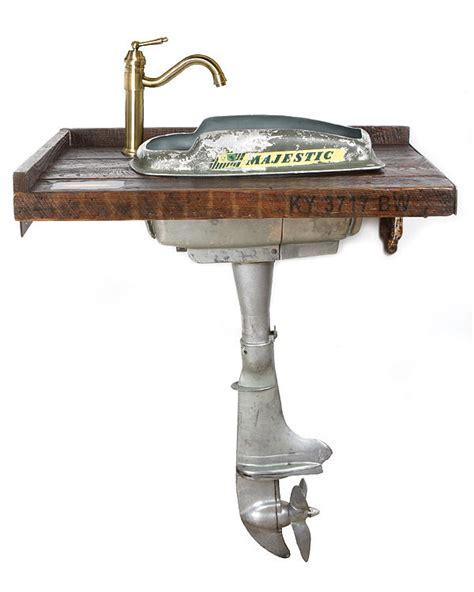 old boat motors wanted boat motor vanity sculpture by benjamin bullins