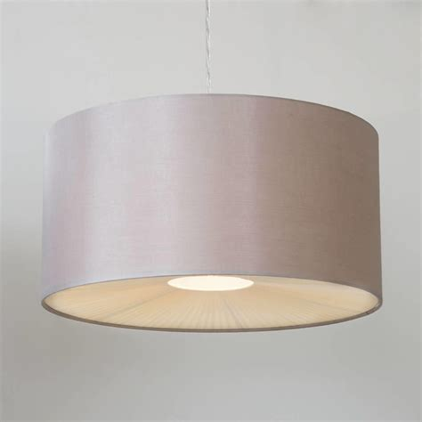 Large Ribbon Easy To Fit Ceiling Shade Drum Mocha From Ceiling Lights With Shades