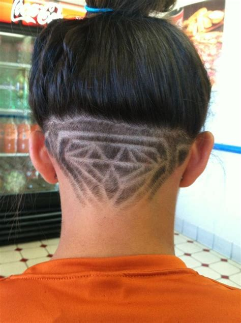hairstyles from the back of the head back of the head diamond shaving hair styles pinterest