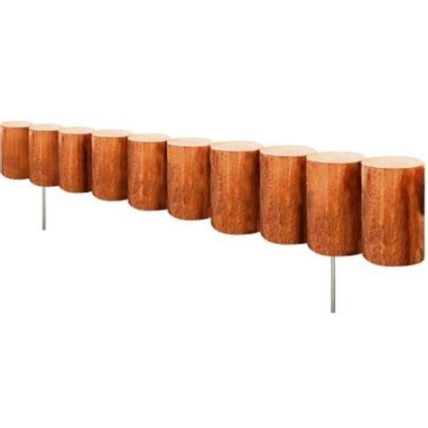 greenes fence   wood log edging rcm  home depot