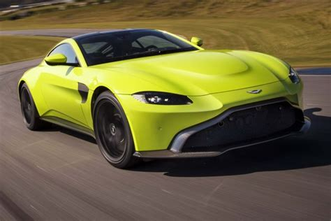 lime green aston martin aston martin vantage v8 2018 second generation photos