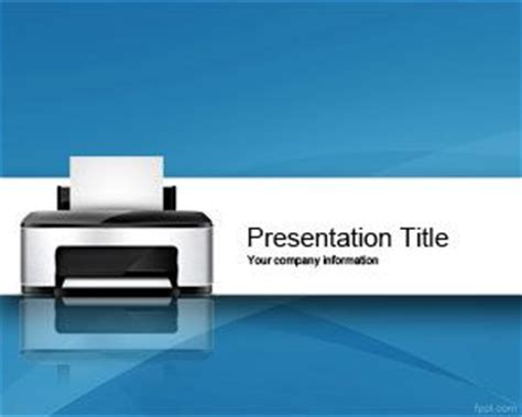 computer themes for powerpoint 2010 printer powerpoint template