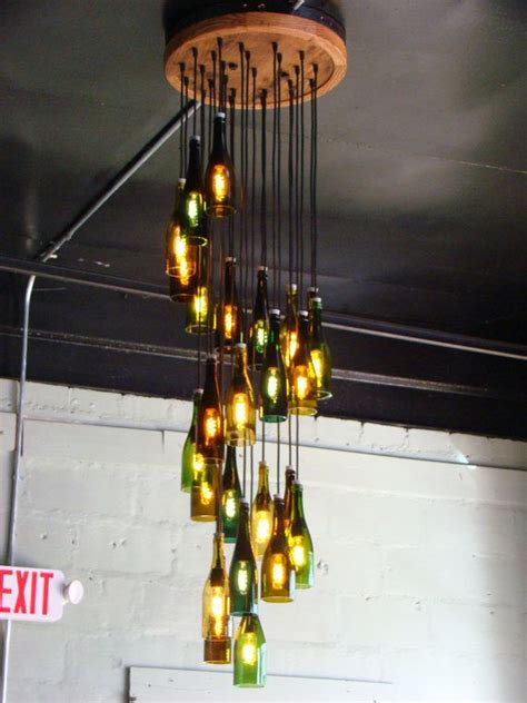 How To Make A Glass Bottle Chandelier Best 25 Bottle Chandelier Ideas On Pinterest Garage Cave Ideas With Pool Table