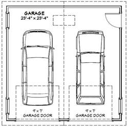 double car garage door width size of two car garage door house plans