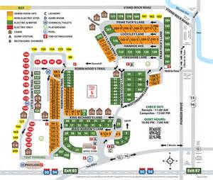 cing site map sherwood forest cing and rv park