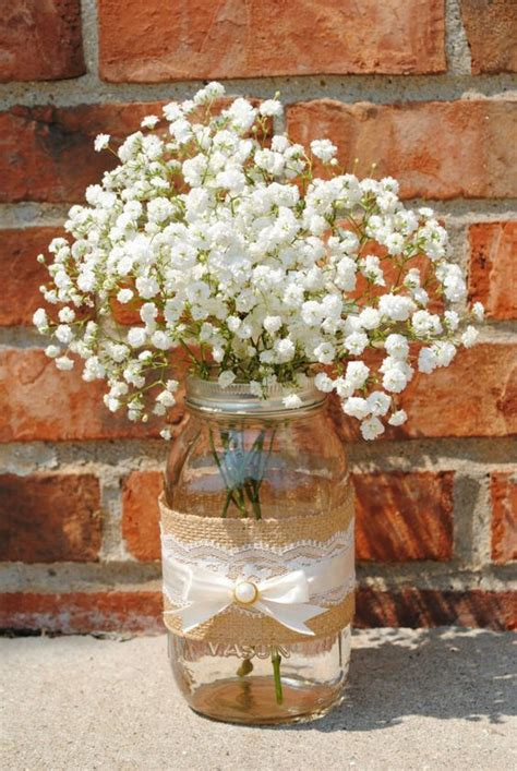 jar and burlap centerpieces 37 beautiful jar wedding centerpieces weddingomania