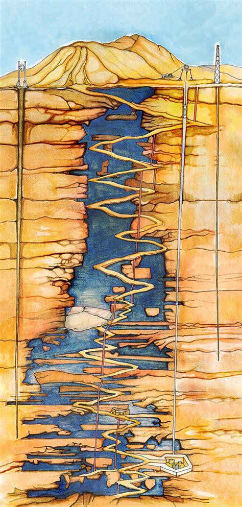 san jose chile mine map illustrated maps san jos 233 mine illustration