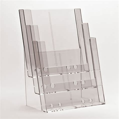 counter standing acrylic leaflet dispensers a4