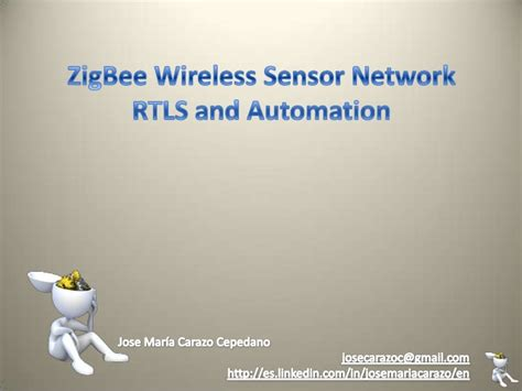 zigbee wireless sensor network rtls and automation