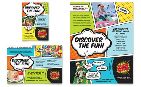 Kids Club Flyer & Ad Template   Word & Publisher