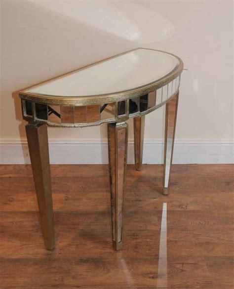 deco console table deco mirrored console table demi lune tables