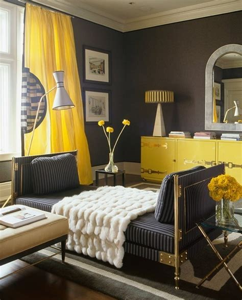 Yellow Living Room Decor Charcoal Gray And Yellow Living Room Design Ideas
