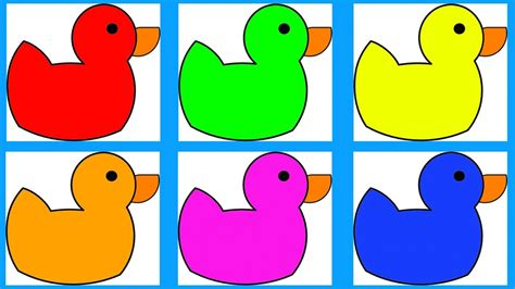 learn colors for children toddlers and babies with ducks