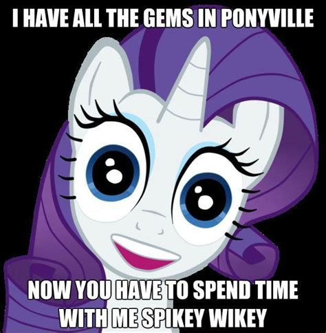 My Little Pony Know Your Meme - overly attached rarity my little pony friendship is