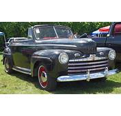 1946 Ford Convertible  Black Front Angle