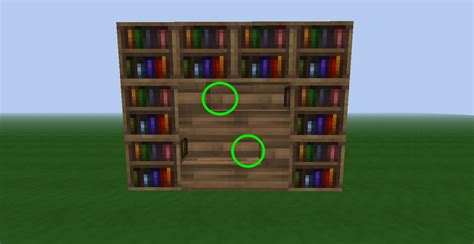 how build bookcase minecraft in easy and steps