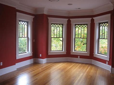 White Windows Wood Trim Decor White Windows With Wood Trim Bay Window White Trim