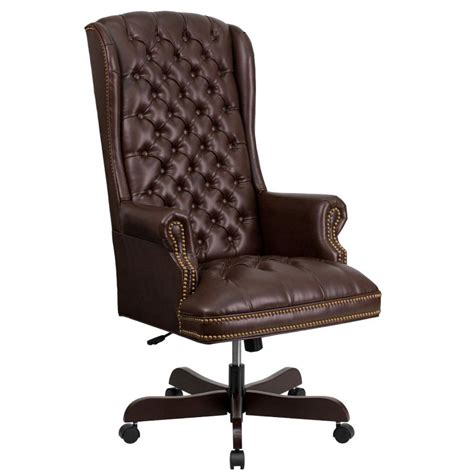 brown leather desk chair brown leather desk chair by flash furniture