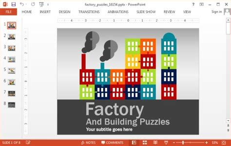 factory template animated factory puzzle template for powerpoint