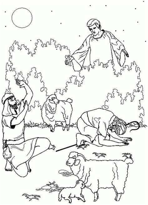 coloring page shepherds christmas christmas bible coloring pages coloringpages1001 com