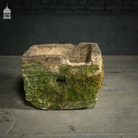 Limestone Planter by Limestone Trough Planter With Extensive Moss And Lichen