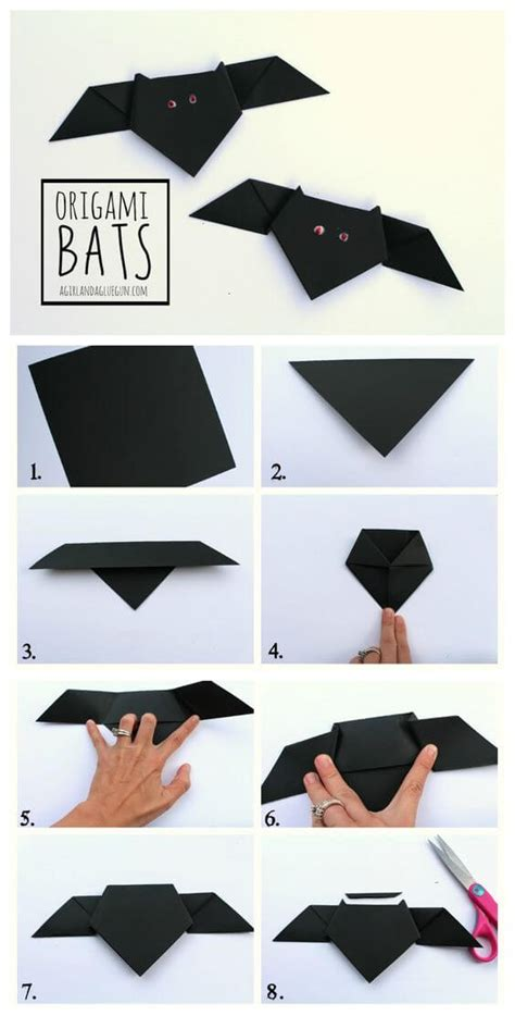 Easy Bat Origami - craft ideas for 2017 festival around the world
