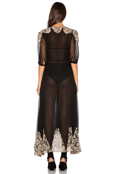Carisa Dress lyst nightcap by carisa rene antique lace wrap gown