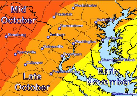 maryland foliage map happy meteorological fall dcstorms