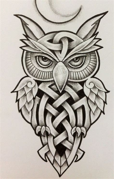 tribal owls tattoos pin by skelly on owls