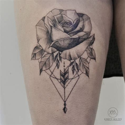 geometric rose tattoo geometric tattoos tatting and