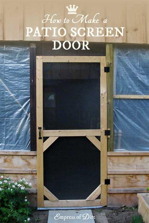garden screen door empress  dirt