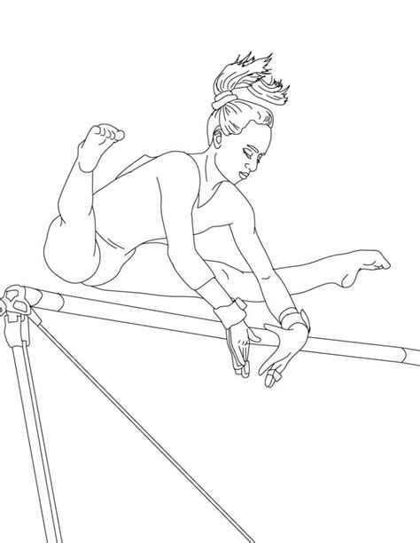 coloring pages gymnastics free free printable gymnastics coloring pages for kids