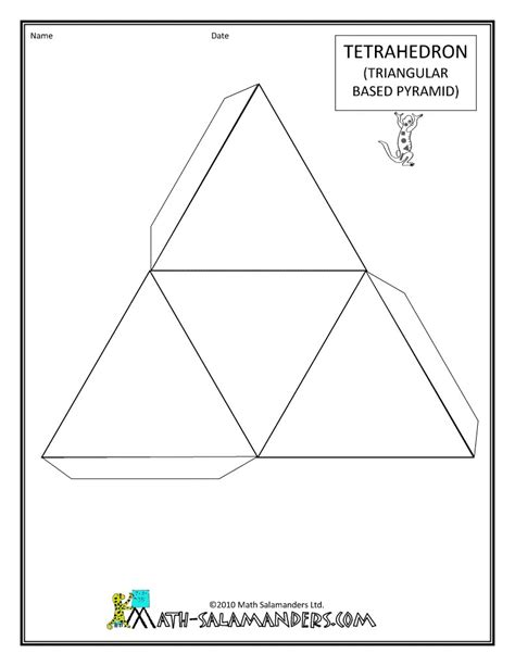 How To Make 3d Paper Shapes - printable 3d shape nets maths 3d shapes