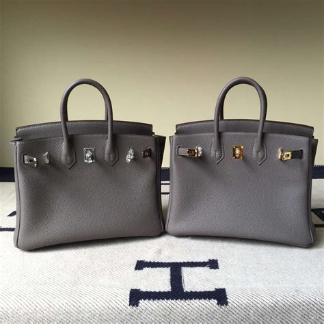 Hermes Togo Grey discount hermes 8f etain grey togo calf leather birkin bag