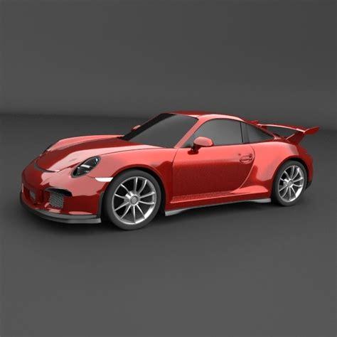 porsche sports car models porsche carrera 911 gt 3 sports car restyled 3d model