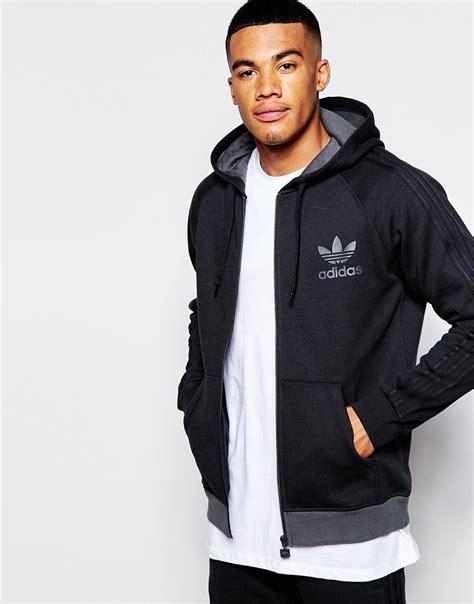 Jaket Typich Hodie Original lyst adidas originals trefoil hoodie ab7588 in black for