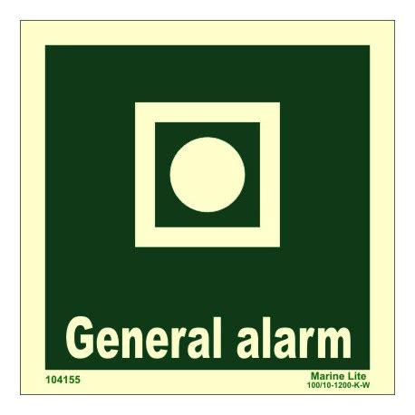general alarm 15x15cm phot vin imo sign 104155