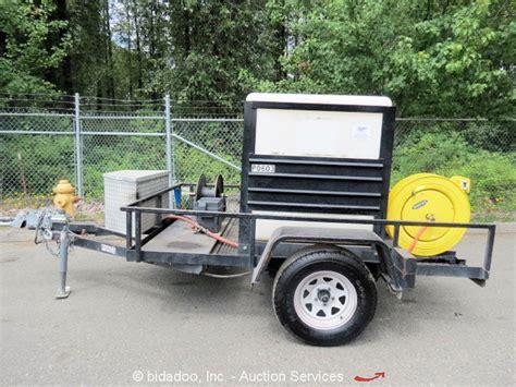 honda 5 5 hp water 2006 mann trlr 300 gallon water tank trailer honda 5 5 hp