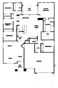 Five Bedroom Floor Plans by Verde Ranch Floor Plan 2780 Model