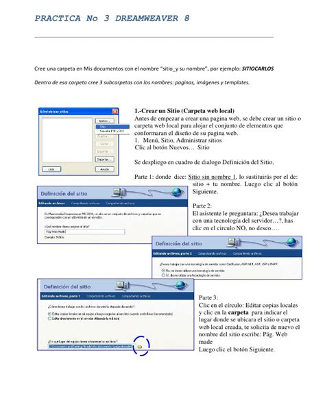 manual spss español practica no 3 dreamweaver 8