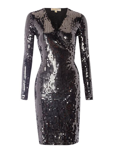 Lyst Michael michael kors 'herringbone' Dress in Metallic