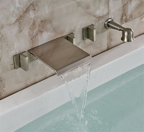 waterfall in bathroom waterfall faucets for tub that carry out the elegance and