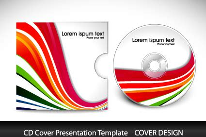 cd cover layout illustrator illustrator cd cover template free vector download