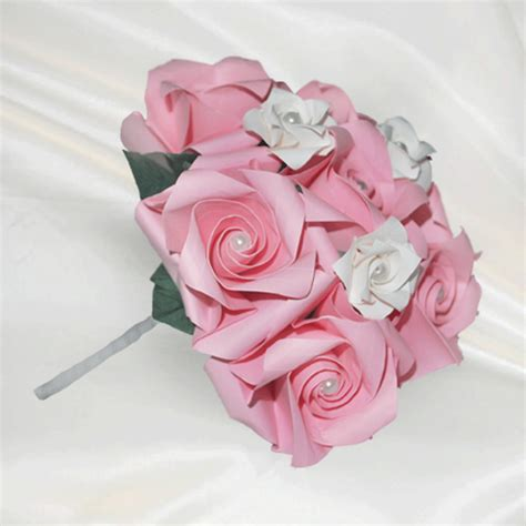 Origami Flower Wedding Bouquet - lovely origami flower bouquet 2016