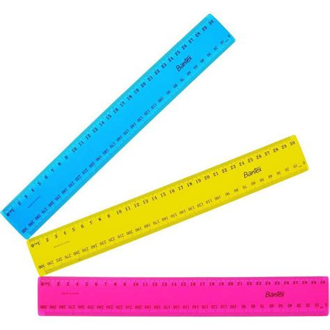 Plastic Ruler plastic ruler 300mm fluorescent cos complete office